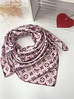 Брендовый платок розовый