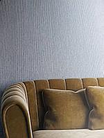 Обои виниловые на флизелине Marburg Art deco 31967 метровые полосы тонкие структурные бирюзовые с серебром