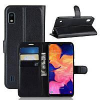 Чехол-книжка Litchie Wallet для Samsung A102 Galaxy A10e Black