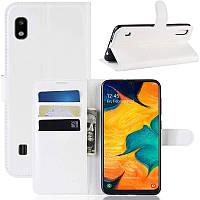Чехол-книжка Litchie Wallet для Samsung A102 Galaxy A10e White
