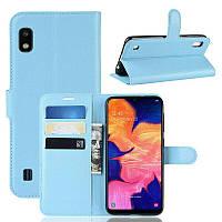 Чехол-книжка Litchie Wallet для Samsung A102 Galaxy A10e Blue