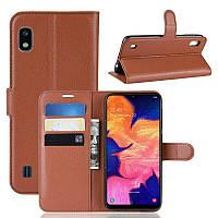 Чехол-книжка Litchie Wallet для Samsung A102 Galaxy A10e Brown