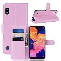 Чехол-книжка Litchie Wallet для Samsung A102 Galaxy A10e Pink