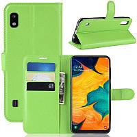 Чехол-книжка Litchie Wallet для Samsung A102 Galaxy A10e Green