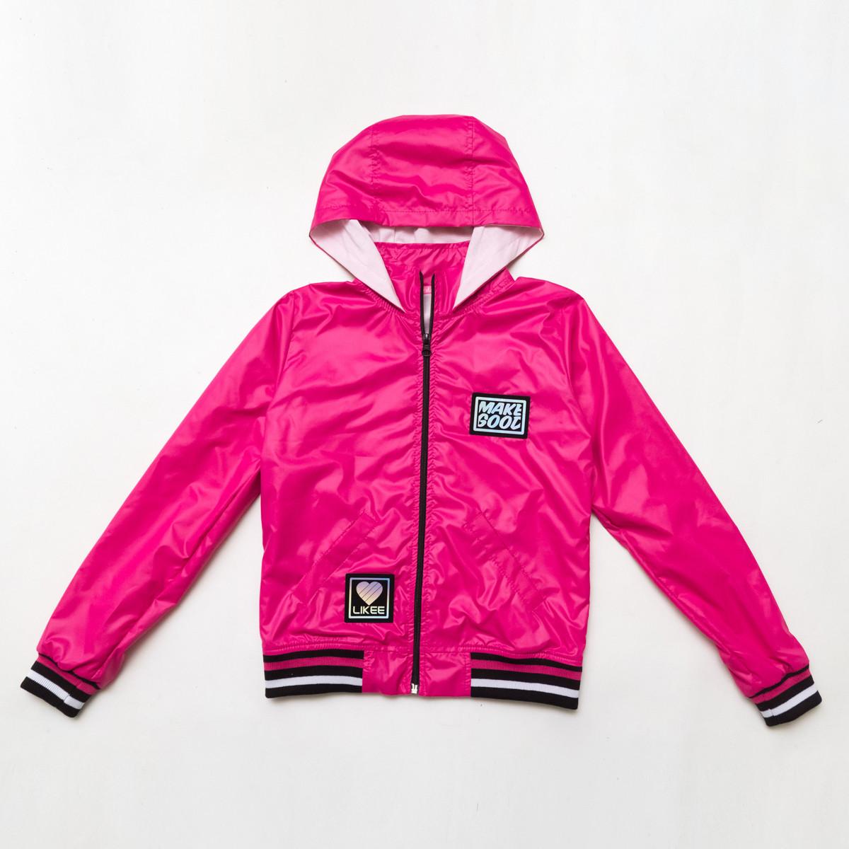 Куртка ветровка, для подростка на подросткладе SmileTime Fashion Time, малиновый