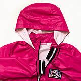 Куртка ветровка, для подростка на подросткладе SmileTime Fashion Time, малиновый, фото 2