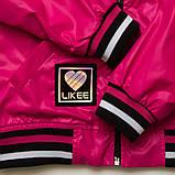 Куртка ветровка, для подростка на подросткладе SmileTime Fashion Time, малиновый, фото 3
