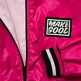 Куртка ветровка, для подростка на подросткладе SmileTime Fashion Time, малиновый, фото 5