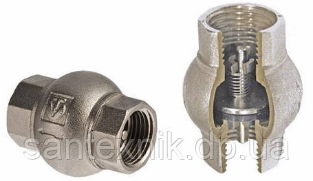 Обратный клапан 1/2 VALTEC (латунь золото), фото 2