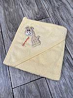 Полотенце-уголок с капюшоном для купания младенцев, размер 80*80, Ramel Kids