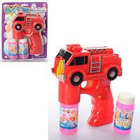 Мыльные пузыри 3939-14, пистолет-машинка-полиция,16см, муз, звук, свет, запаска