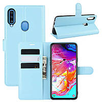 Чохол-книжка Litchie Wallet для Samsung A207 Galaxy A20s Blue