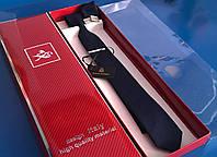 Набор: галстук, платок, запонки и зажим для галстука