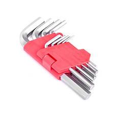 Набор Г-образных шестигранных ключей 9 шт., 1,5-10 мм, Cr-V INTERTOOL HT-0601, фото 2