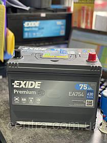 Автомобильный аккумулятор EXIDE PREMIUM EA754 75Ah JR+ Asia