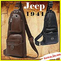 Мужская сумка Jeep Bag Jeep 1941  Кожаная мужская сумка Jeep плечо, фото 1
