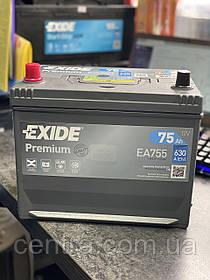Автомобильный аккумулятор EXIDE PREMIUM EA755 75Ah JL+ Asia