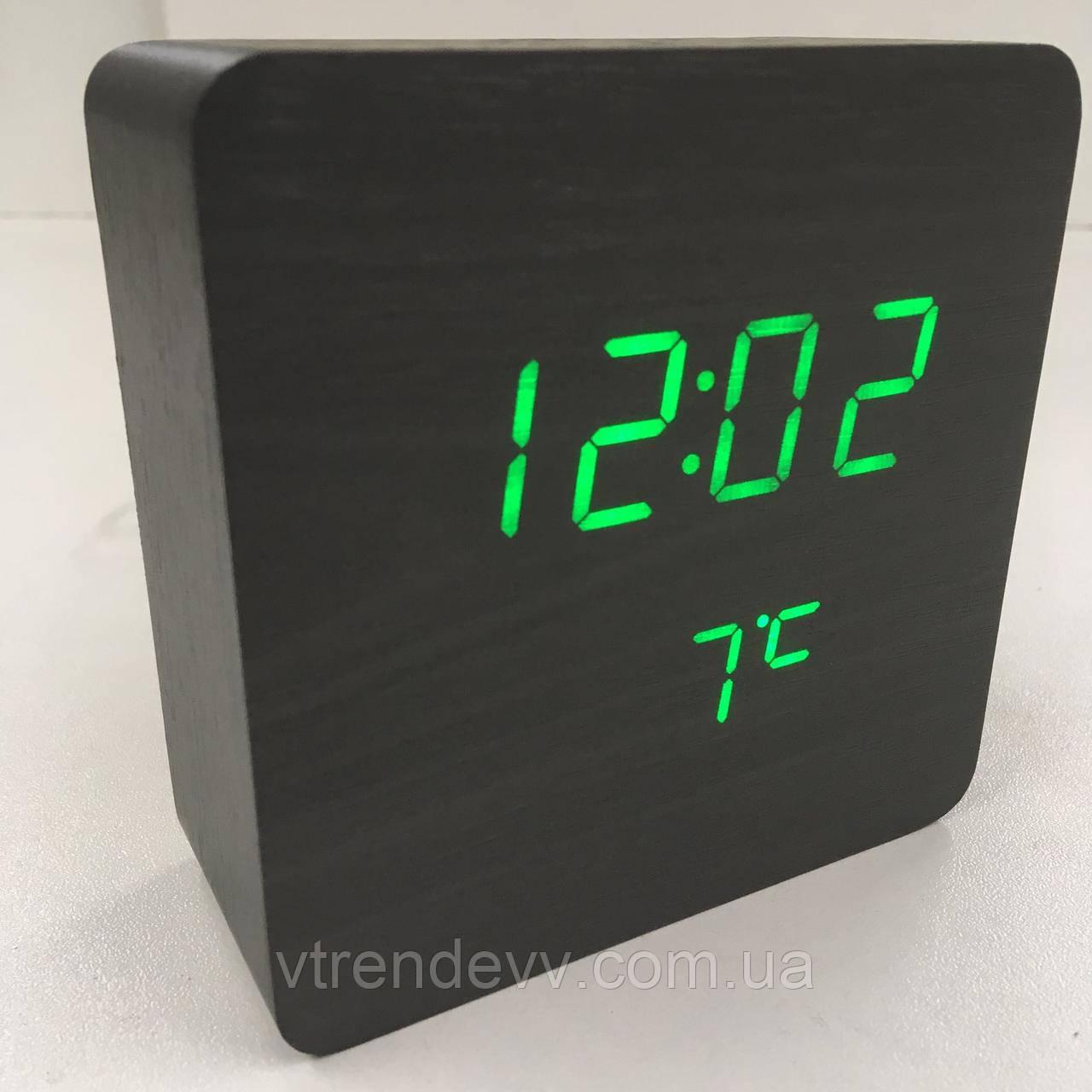 Часы электронные настольные с датчиком температуры LED VST-872 черные Original