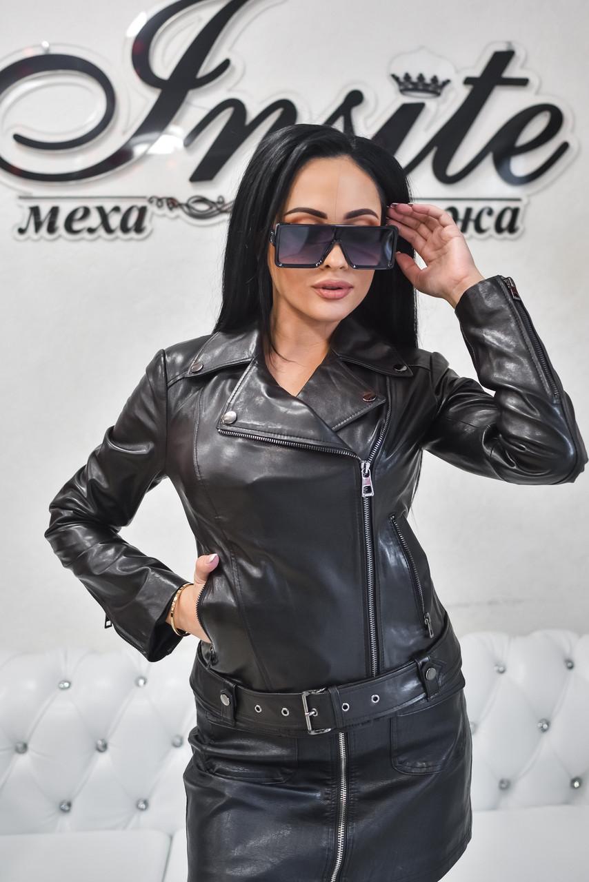 Куртка Женская Косуха Черная 020НЖ