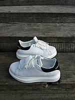 Кеды женские кожаные демисезонные производства Украина Туфли спорт комфорт белые 37 (23,5 см)