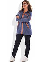 Спортивный женский костюм трехнитка зима размеры от XL