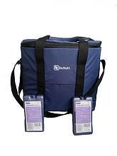 Термосумка, сумка-холодильник для продуктов с двумя аккумулятором холода в комплекте