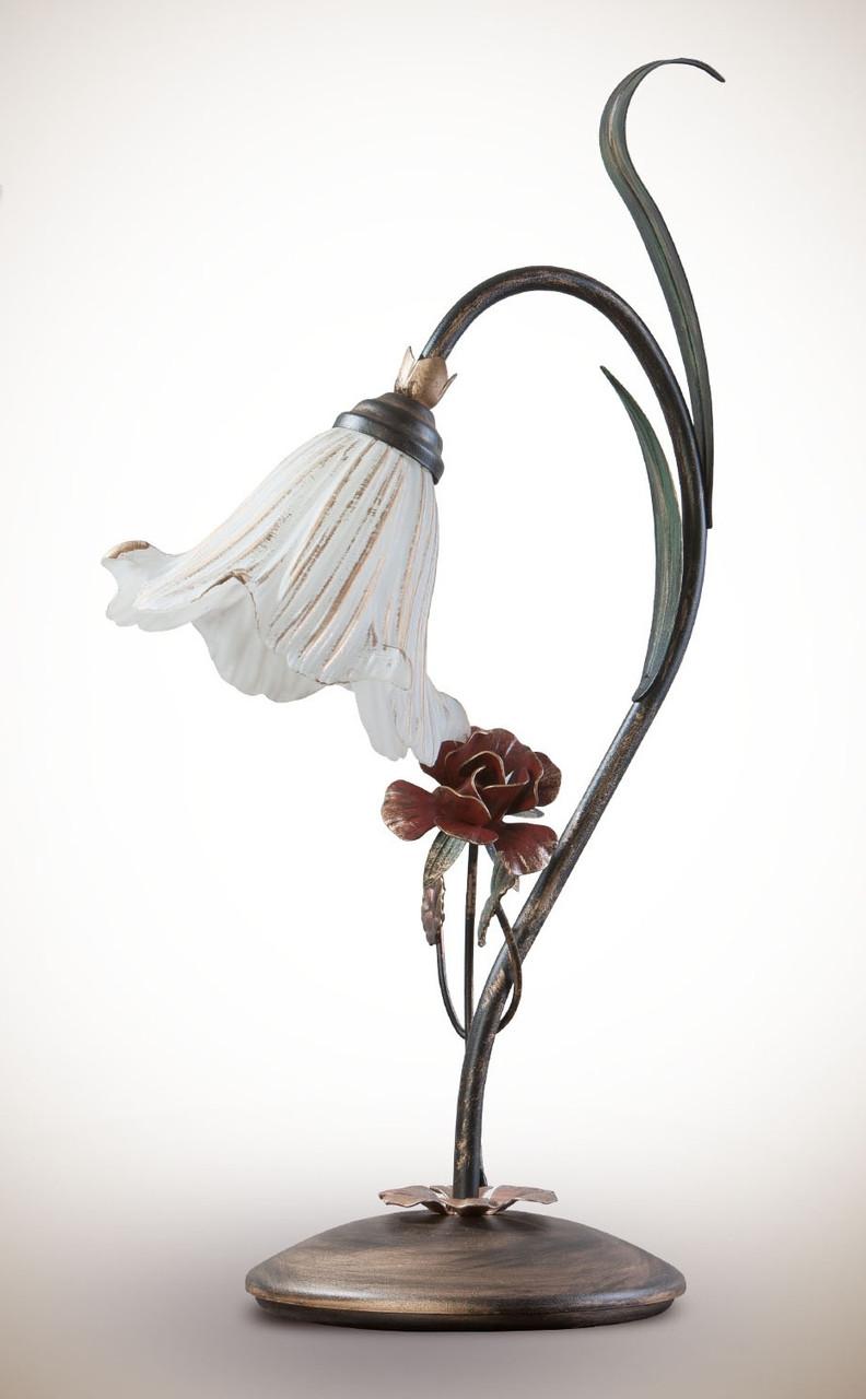 Настольная лампа в стиле флористика  15600-1