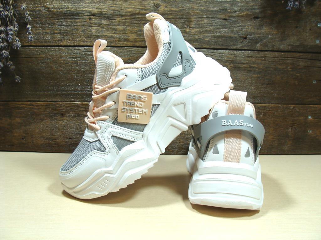 Женские кроссовки BaaS Trend System бело-серые 36 р.