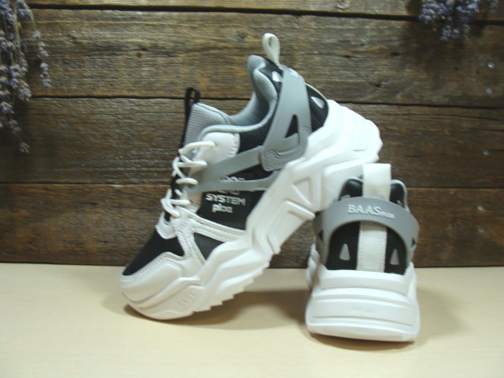 Кроссовки BaaS Trend System бело-черные 38 р.