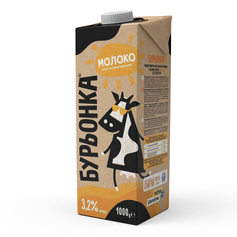 Молоко буренка ультрапастеризованное 3,2% 1000г