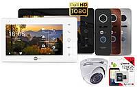 Комплект FullHD домофона с камерой Neolight NeoKIT HD Pro + карта 128GB