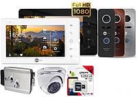 Комплект FullHD домофона с замком и камерой Neolight NeoKIT HD Pro + карта 128GB