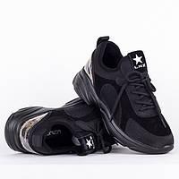 Стильные черные кроссовки F90025-A BLACK весна 2020, фото 1
