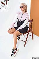 Спортивное платье женское с капюшоном (2 цвета) ВШ/-1170 - Черно-розовый, фото 1