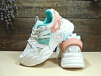 Женские кроссовки BaaS Trend System бело-зелёные 39 р., фото 1