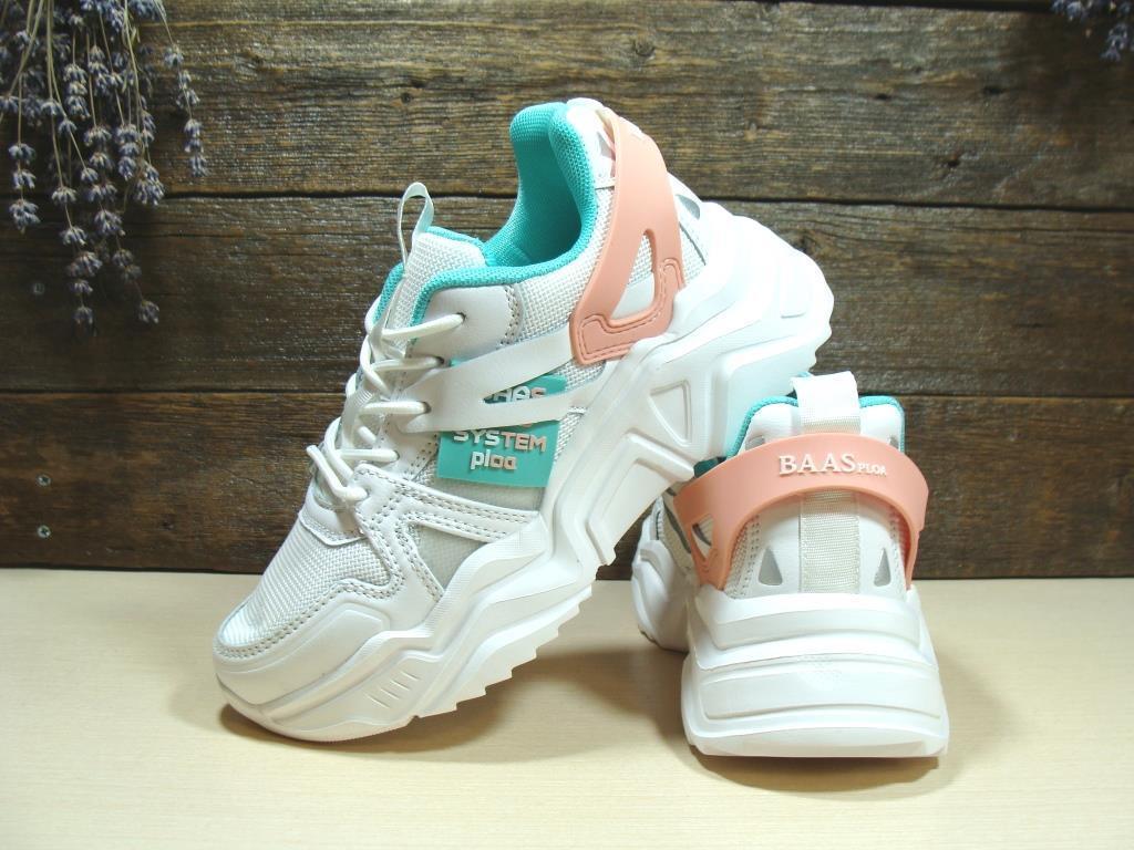 Женские кроссовки BaaS Trend System бело-зелёные 39 р.