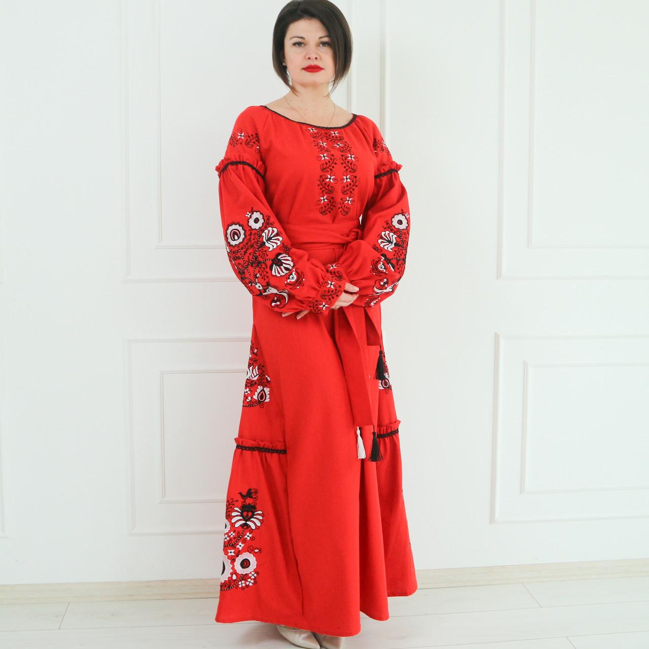 """Жіноче вишите плаття """"Гарді"""" (Женское вышитое платье """"Гарди"""") PJ-0032"""