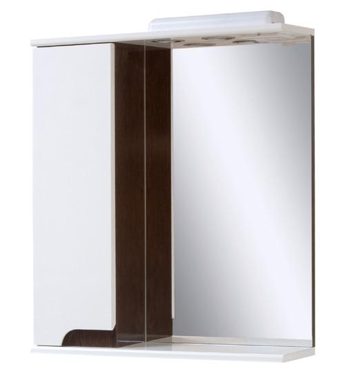 Зеркальный шкаф в ванную комнату Simple венге 60