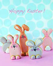 Комплект вырубка для печенья - Пасхальные кролики 3шт
