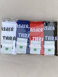 Жіночі шкарпетки Montebello шкарпетки стрейчеві з написом Trasher 36-40 12 шт в уп сині червоні