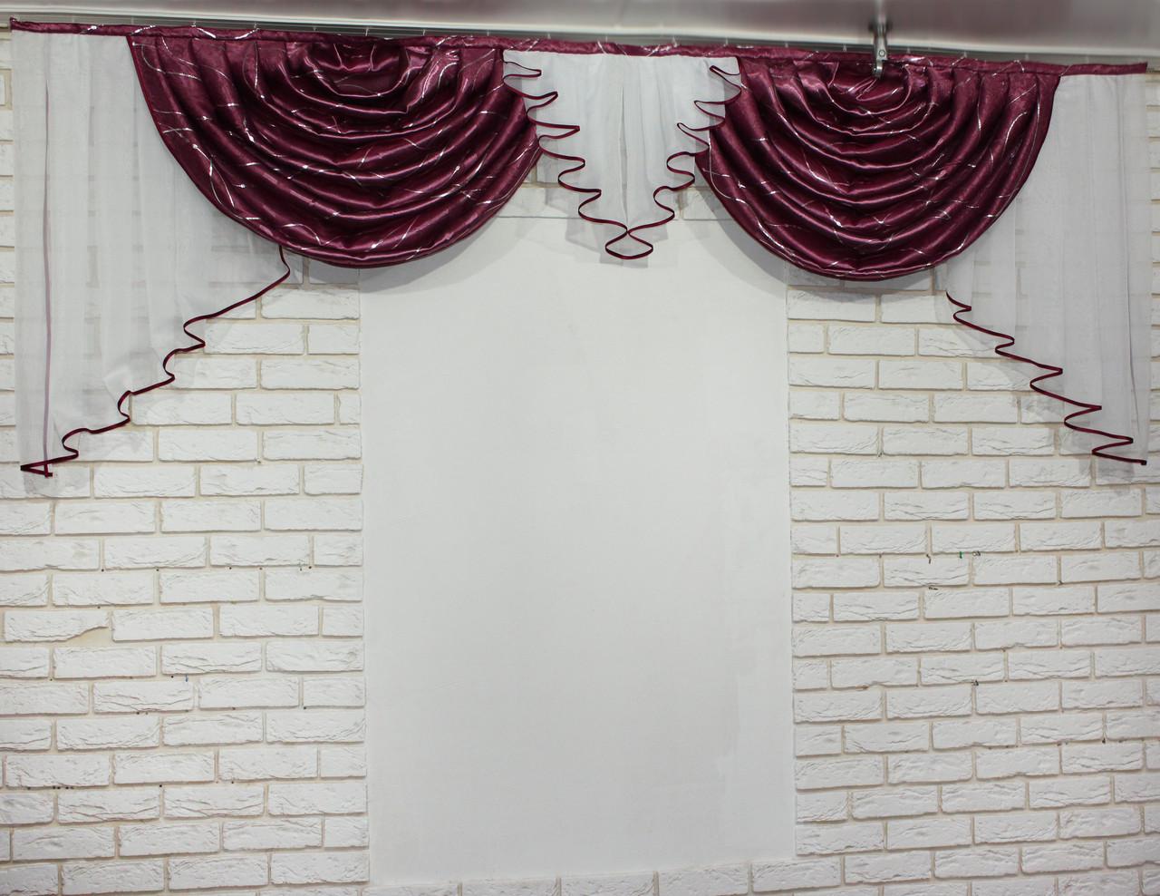 """Ламбрекен из плотной ткани """"Полина"""" 063л459"""