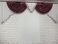 "Ламбрекен из плотной ткани ""Полина"" 063л459, фото 1"