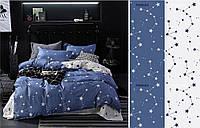 Комплект постельного белья двуспальное евро 200*220 простынь на резинке (13935) бязь Ранфорс