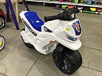 Мотоцикл толокар беговел Орион. Белый. Музыкальный