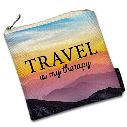 Косметичка квадратная Basic Travel is my therapy (KB_20F002_SBR)
