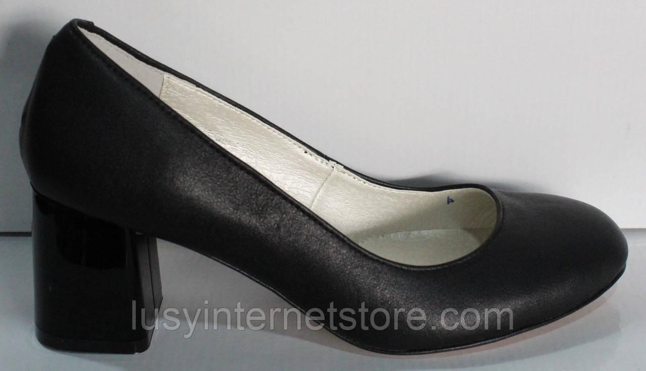 Туфли лодочки черные женские от производителя модель КЛ8003-6-1