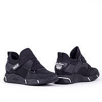 Стильные черные кроссовки Lonza FLM87611 BLACK весна 2020, фото 1