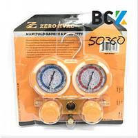 Двухвентильный манометрический коллектор ZR-M50360AA R410A, R22, R134A, R404A инструмент для монтажа