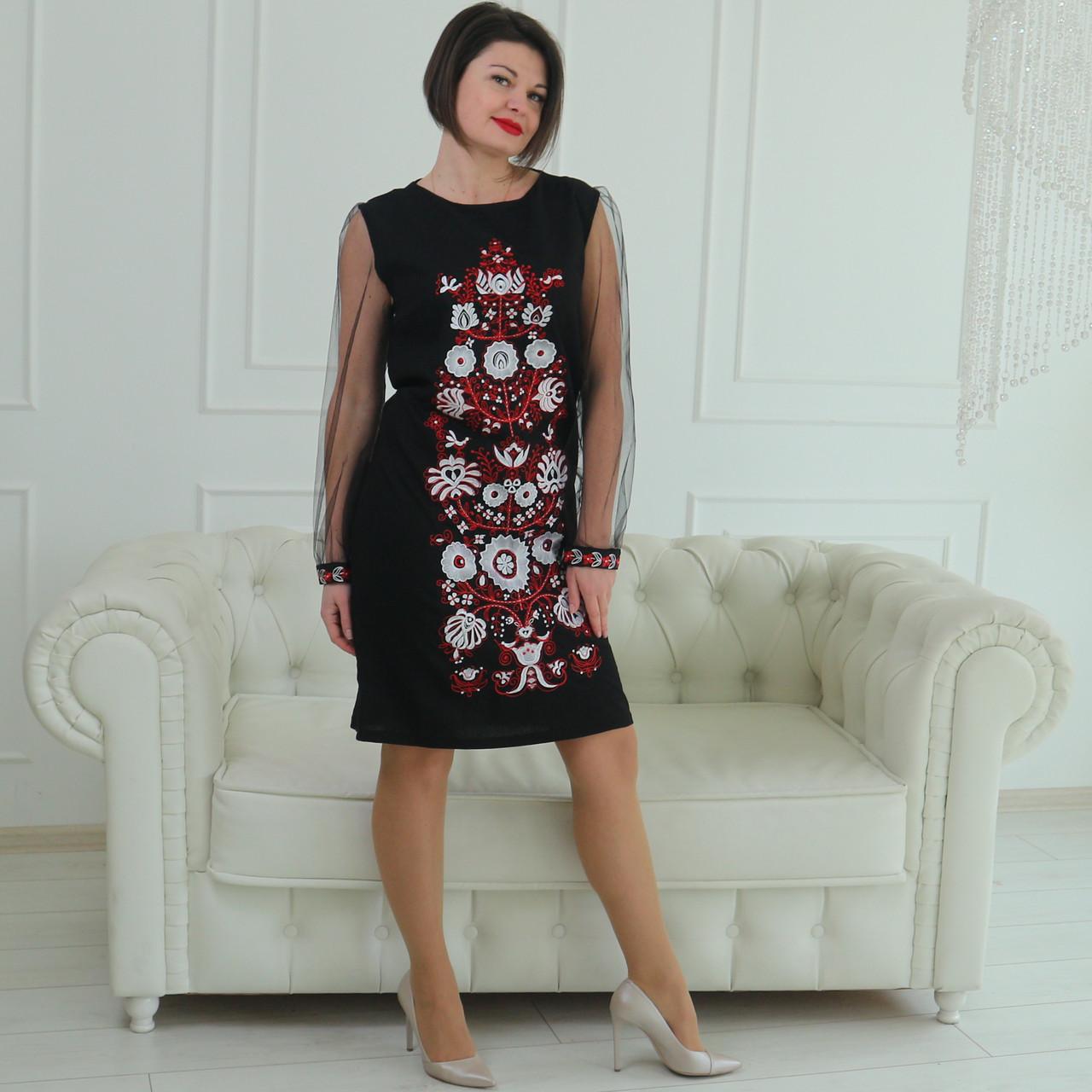 """Женское вышитое платье """"Дженис"""" PJ-0034"""