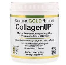 Коллаген морской + гиалуроновая кислота + витамин C, без добавок, CollagenUP  206 г. California Gold Nutrition
